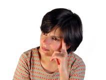 Pensamiento de la muchacha Imagen de archivo