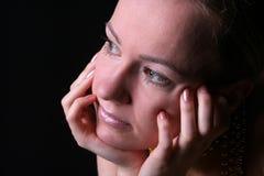 Pensamiento de la mujer Fotografía de archivo libre de regalías