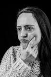 Pensamiento de la mujer Foto de archivo libre de regalías