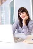 Pensamiento de la mujer de negocios Imagen de archivo
