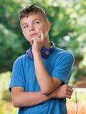 Pensamiento del adolescente Foto de archivo libre de regalías