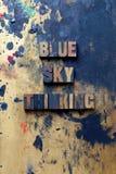Pensamiento del cielo azul Fotos de archivo
