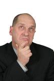 Pensamiento del hombre de negocios Imágenes de archivo libres de regalías