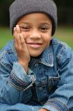 Pensamiento del muchacho Imagen de archivo libre de regalías
