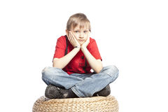 Pensamiento del muchacho Imagen de archivo