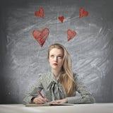 Pensamiento en el amor Fotografía de archivo