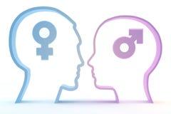 Pensamiento en el sexo opuesto Imagen de archivo