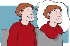Pensamiento en el uno mismo libre illustration
