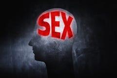 Pensamiento en sexo Imágenes de archivo libres de regalías