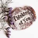 Pensamiento en usted Imagen de archivo libre de regalías