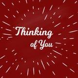 Pensamiento en usted Imagen de archivo