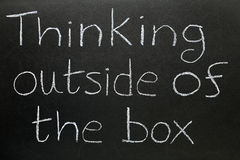 Pensamiento fuera en del rectángulo Fotos de archivo