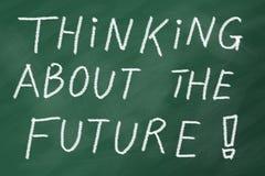 Pensamiento futuro Imagen de archivo libre de regalías
