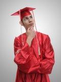 Pensamiento futuro del diplomado de High School secundaria Imagen de archivo