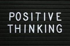 Pensamiento positivo como actitud para el éxito Fotos de archivo libres de regalías