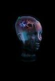 Pensamiento principal de cristal Imágenes de archivo libres de regalías