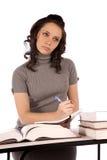 Pensamiento tomando notas Imagen de archivo