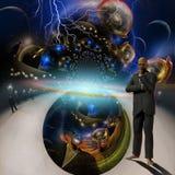 Pensamientos del creador ilustración del vector