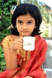 Pensamientos del tiempo del té Foto de archivo libre de regalías