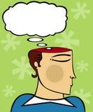 Pensamientos expresos stock de ilustración