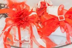 Pensamientos rojos para las bodas Fotos de archivo