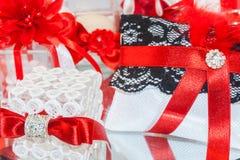 Pensamientos rojos para las bodas fotografía de archivo libre de regalías