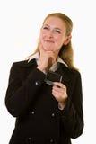 Pensando ad un messaggio Fotografie Stock Libere da Diritti