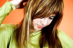 Pensando ai miei capelli Fotografia Stock