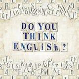Pensate l'inglese? illustrazione di stock