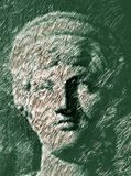 Pensatore (illustrazione) fotografie stock libere da diritti