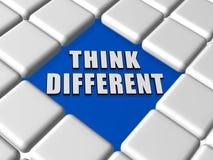 Pense diferente em umas caixas Imagem de Stock
