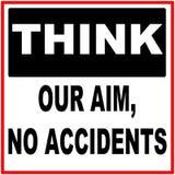Pense nosso alvo, nenhuns acidentes fotografia de stock royalty free