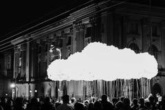 Pense a nuvem Bucareste Fotografia de Stock Royalty Free