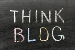 Pense o blogue imagens de stock