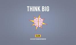 Pense o conceito de pensamento positivo grande da atitude da inspiração Imagens de Stock Royalty Free
