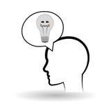 Pense o conceito do projeto, do positivo e da ideia Fotos de Stock