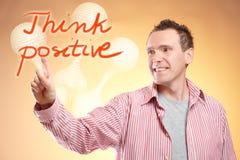 Pense o positivo Fotos de Stock Royalty Free