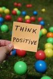 Pense o positivo Fotografia de Stock Royalty Free