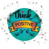 Pense o positivo Imagens de Stock