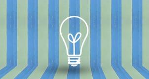 Pense o sinal na madeira azul da parede do pastale Imagens de Stock