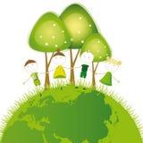 Pense o verde Imagem de Stock