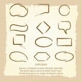 Penseelspraak-frames op uitstekende achtergrond Royalty-vrije Stock Afbeelding