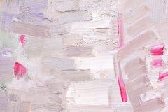 Penseelstreek op canvas Stock Fotografie