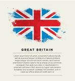 Penseelstreekvlag Groot-Brittannië Royalty-vrije Stock Fotografie