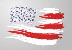 Penseelstreekvlag van Amerika Royalty-vrije Stock Foto