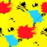 Penseelstreken naadloos patroon Heldere kleuren Het kan voor prestaties van het ontwerpwerk noodzakelijk zijn Royalty-vrije Stock Foto's
