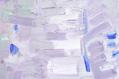 Penseldrag på kanfas Arkivbild