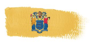penseldragflagga nya jersey Fotografering för Bildbyråer