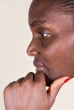 Penser africain de femme Images libres de droits