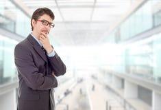 penser d'homme d'affaires image stock